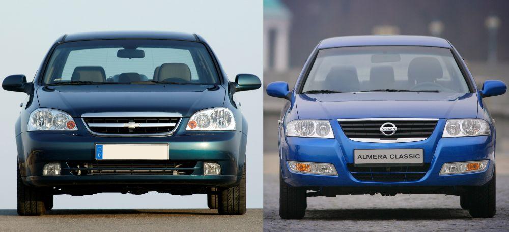 Nissan Almera Classic и Chevrolet Lacetti