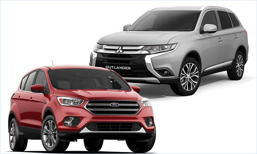 Что выбрать Mitsubishi Outlander или Ford Kuga