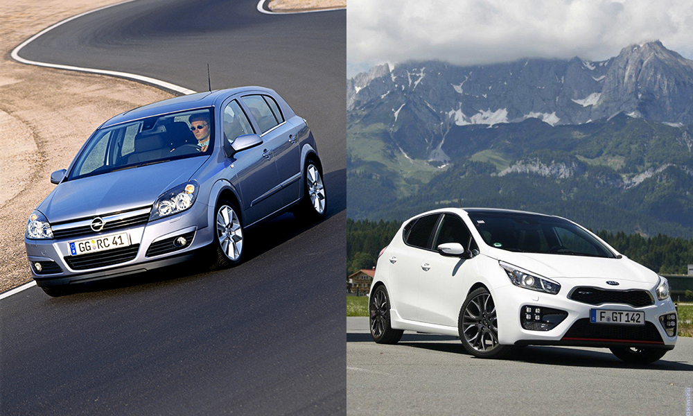 Сравнение автомобилей Opel Astra и Kia Ceed