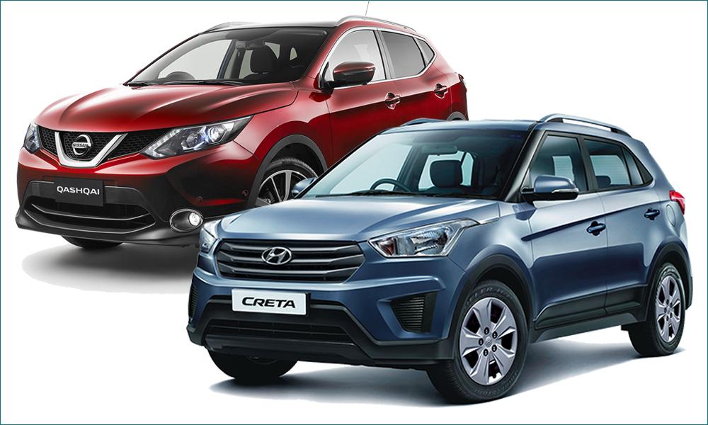 Hyundai Creta и Nissan Qashqai