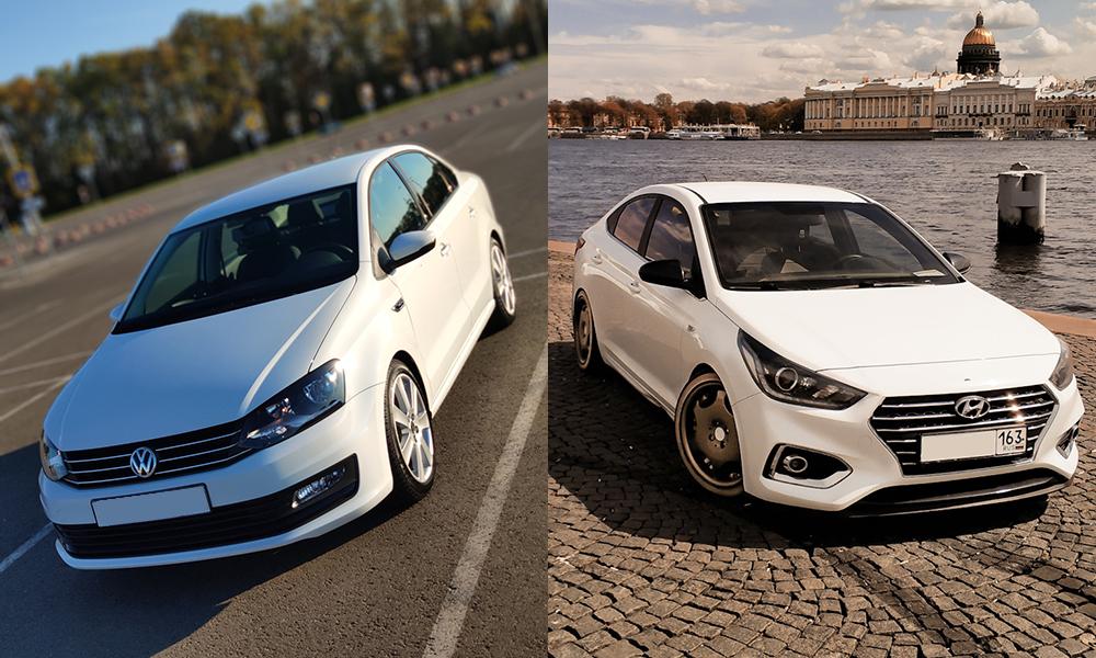 Сравнение Hyundai Solaris и Volkswagen Polo