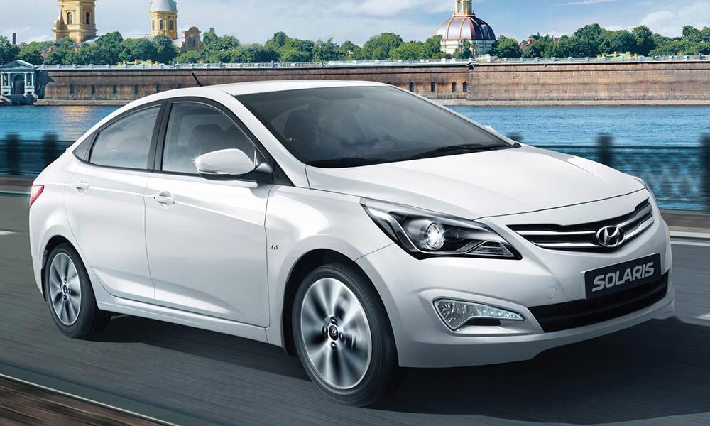 Hyundai Solaris на трассе
