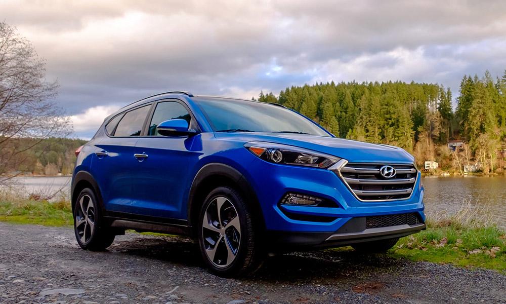Hyundai Tucson на трассе