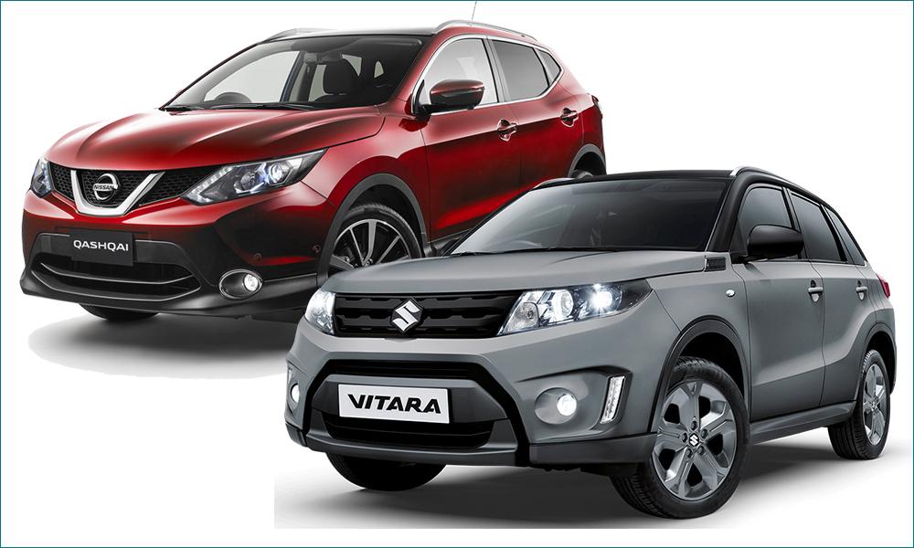 Nissan Qashqai и Suzuki Vitara