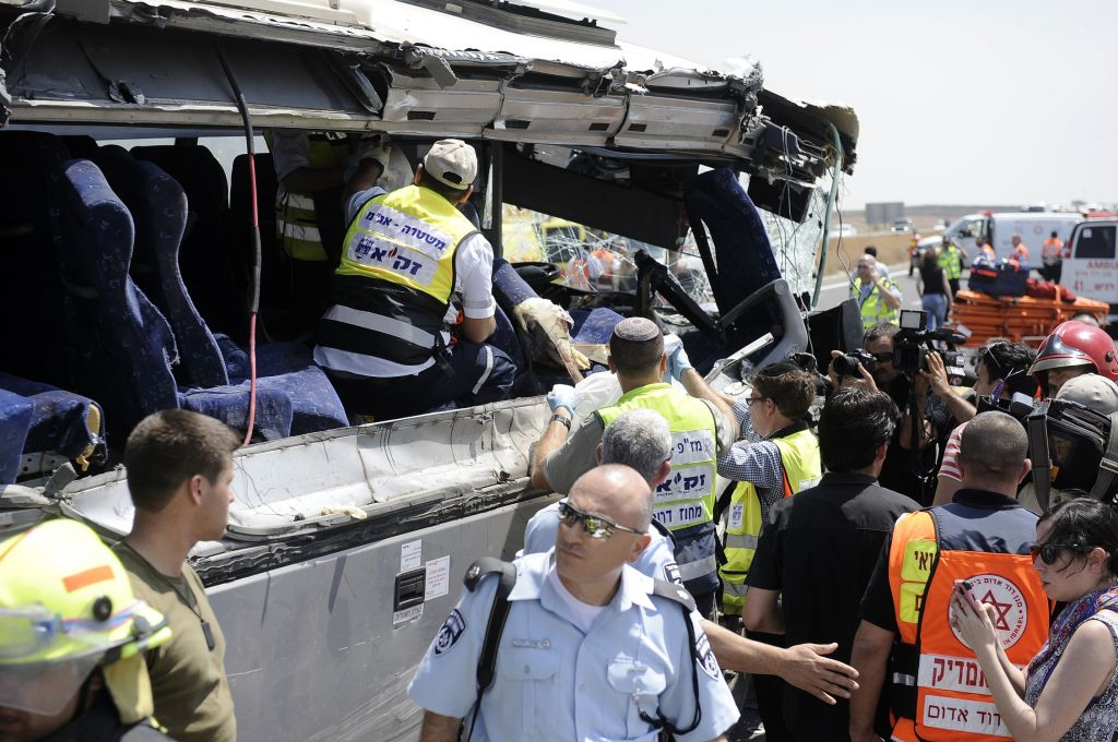 Страшное ДТП с автобусом в Израиле