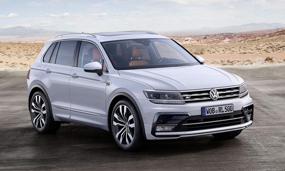 Volkswagen Tiguan на трассе