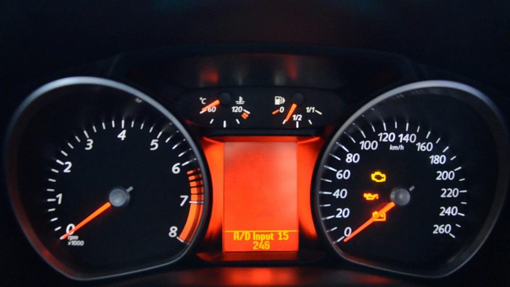 Ford Mondeo светящаяся панель приборов