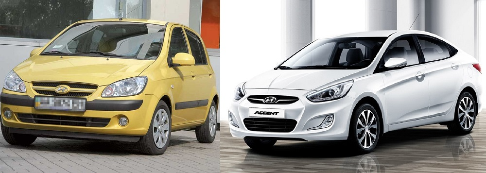Hyundai Getz и Hyundai Accent