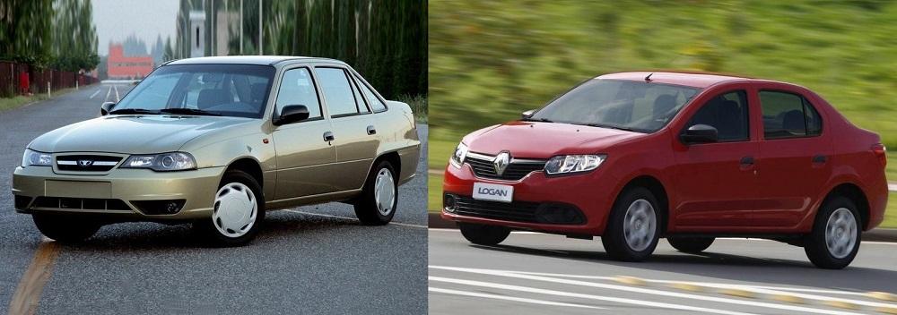 Daewoo Nexia и Renault Logan