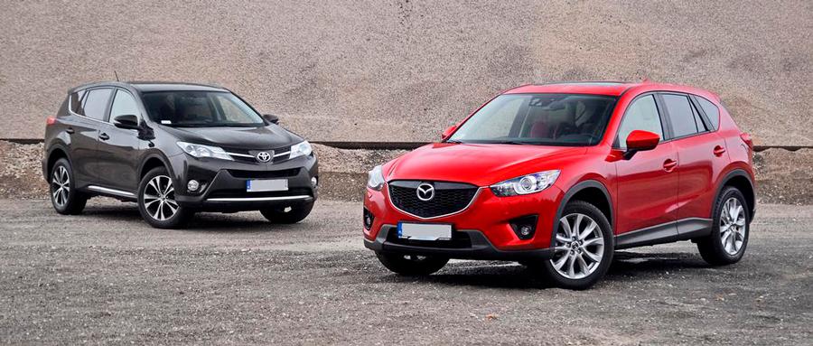 Сравнение Mazda CX-5 i Tojota RAV4