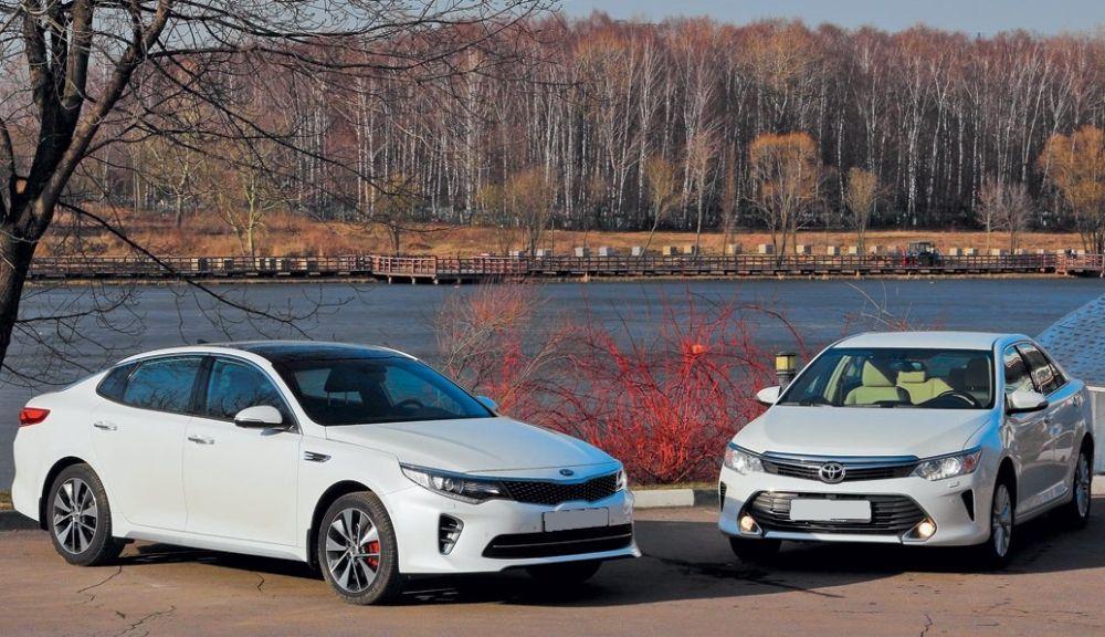 Toyota Camry и Kia Optima