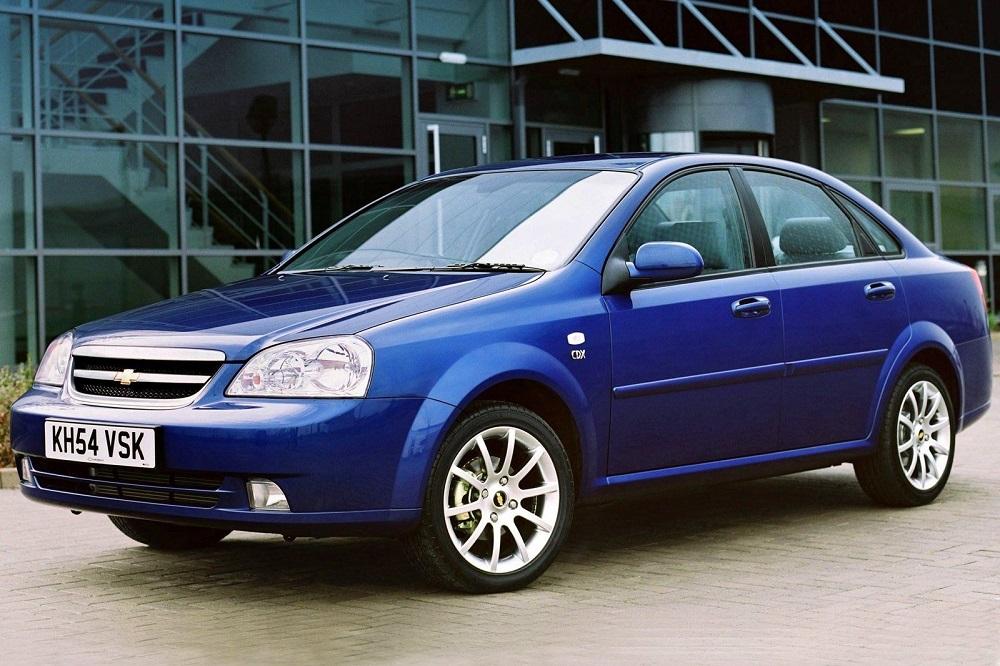 Синее Chevrolet Lacetti