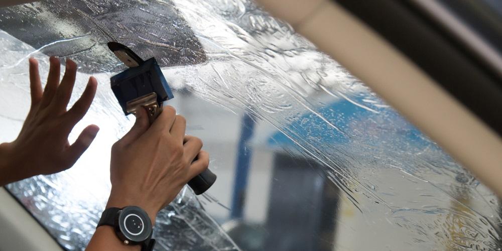 Нанесение керамической пленки на стекло