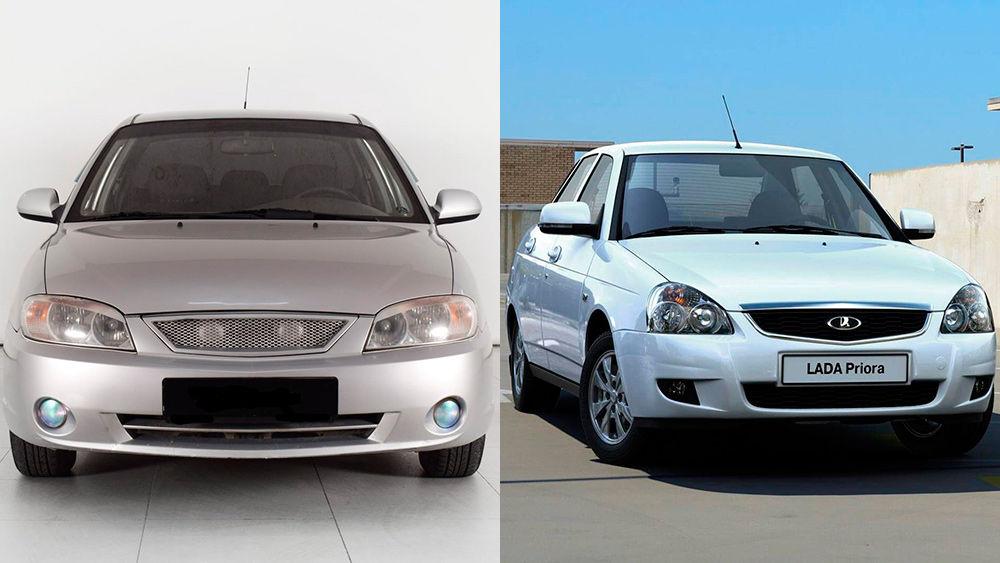 Какой автомобиль лучше: Lada Priora или Kia Spectra
