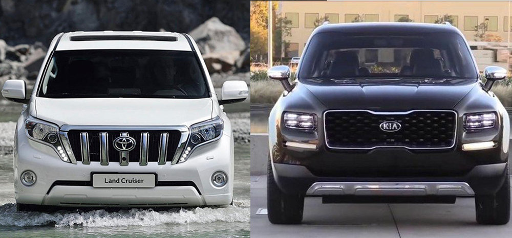 Kia Mohave и Land Cruiser Prado