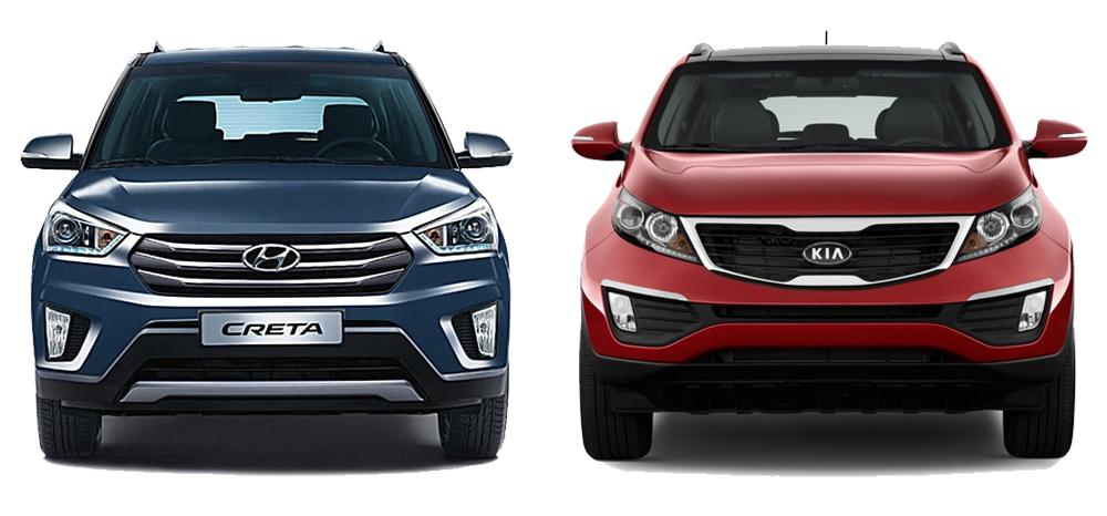 Kia Sportage и Hyundai Creta