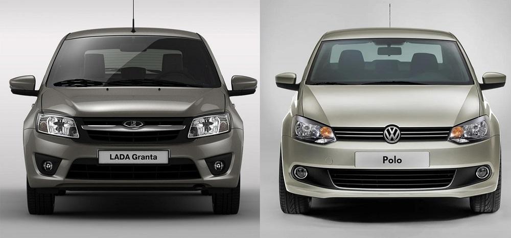 Lada Granta и Volkswagen Polo