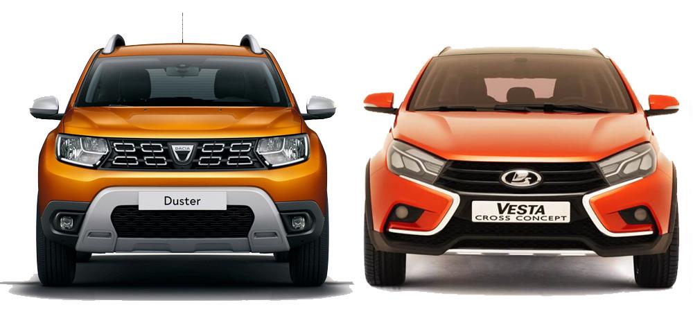 LADA Vesta SW Cross и Renault Duster