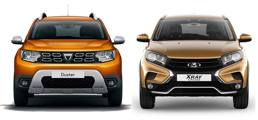 LADA XRAY и Renault Duster