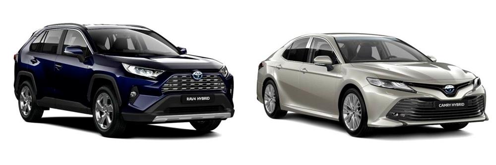 Сравнение Toyota RAV4 и Camry