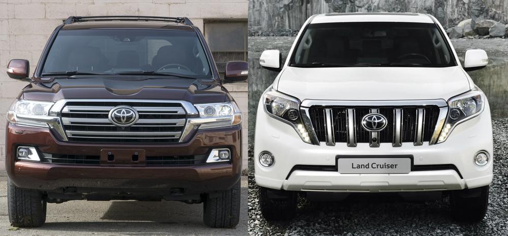 Toyota Land Cruiser Prado и Toyota Land Cruiser 200