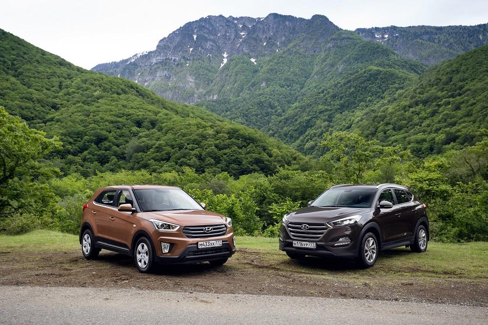Hyundai Tucson и Hyundai Creta