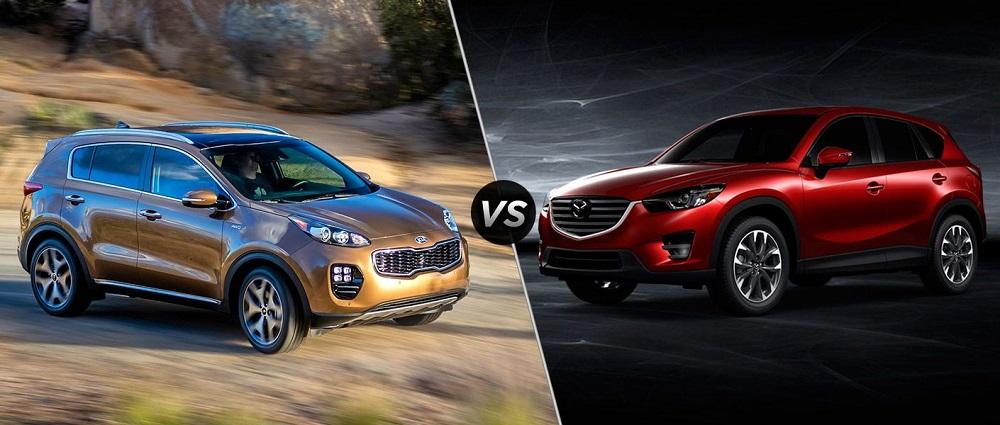 Kia Sportage и Mazda CX-5
