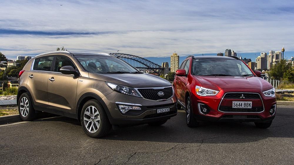 Mitsubishi ASX и Kia Sportage