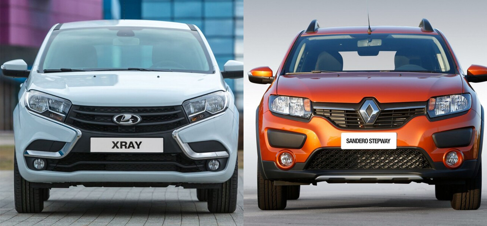 Renault Sandero Stepway против Lada Xray