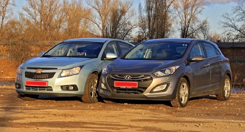 Chevrolet Cruze и Hyundai Solaris