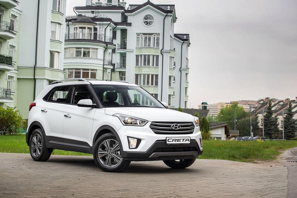Hyundai Creta белое авто