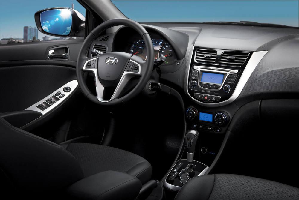 Hyundai Solaris салон в авто
