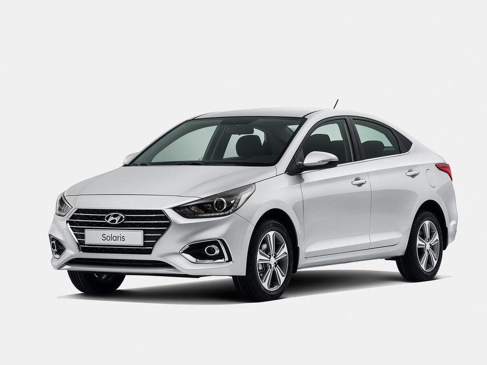 Hyundai Solaris серый цвет