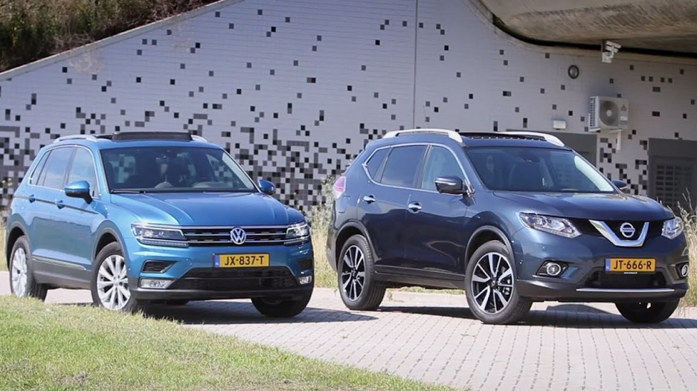 Nissan X-Trail и Volkswagen Tiguan