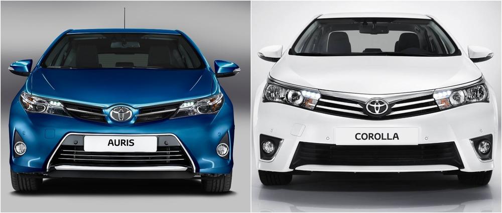 Toyota Auris и Toyota Corolla
