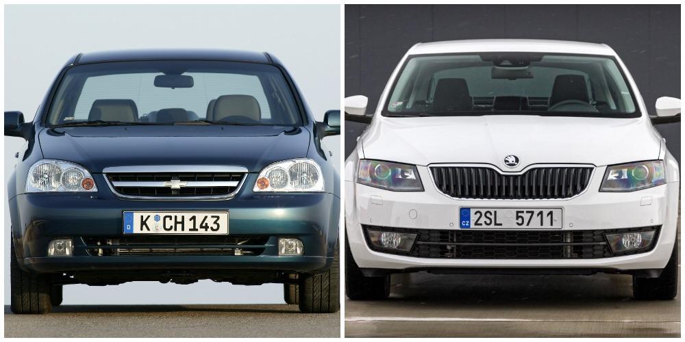 Chevrolet Lacetti и Skoda Octavia