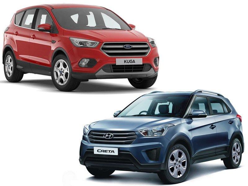 Hyundai Creta и Ford Kuga