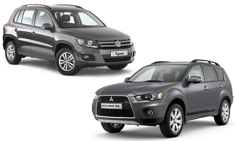 Mitsubishi Outlander и Volkswagen Tiguan