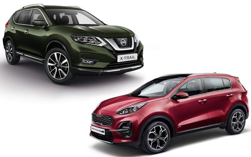 Kia Sportage и Nissan X-Trail