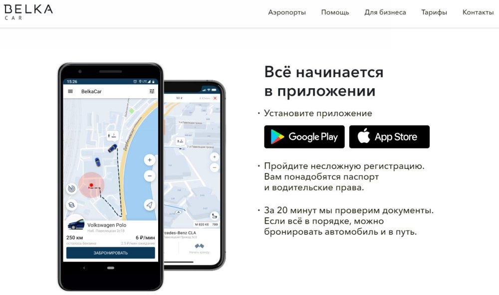 Сайт компании Belka Car