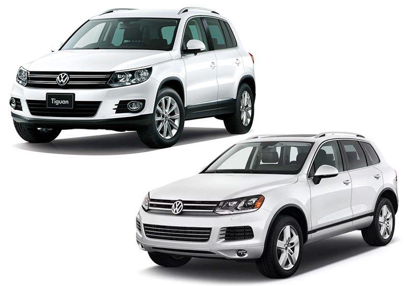 Volkswagen Tiguan и Volkswagen Touareg