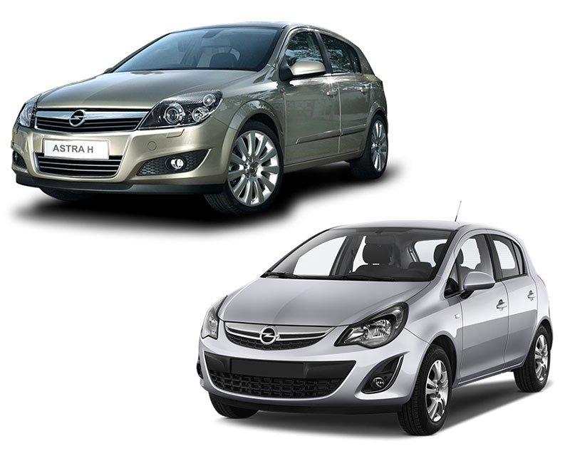 Сравнение Opel Astra и Opel Corsa