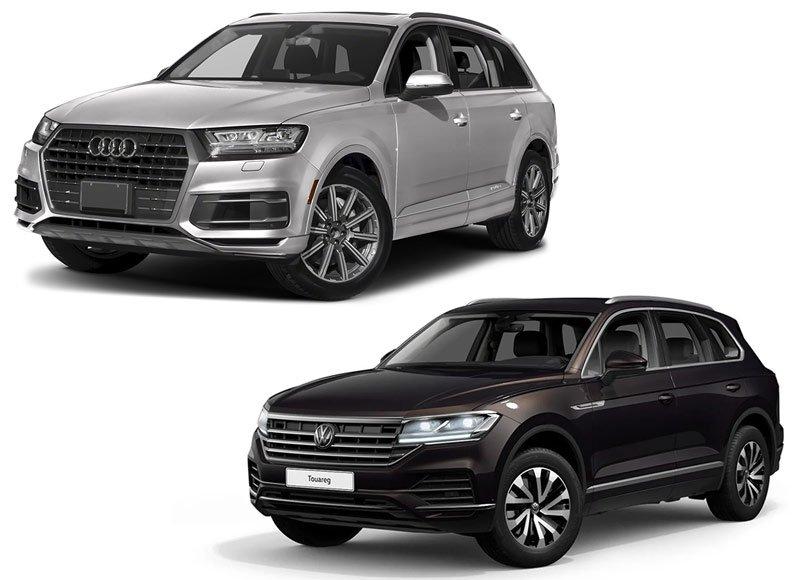 Автомобили Volkswagen Touareg и Audi Q7