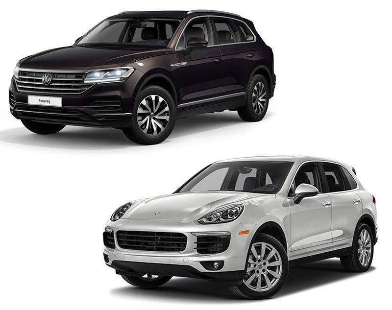 Сравнение Volkswagen Touareg и Porsche Cayenne