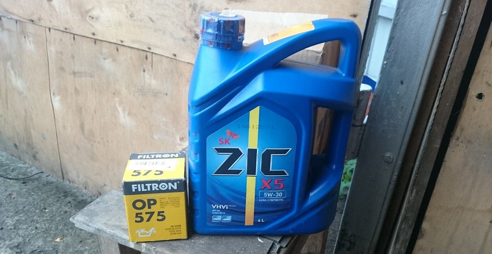 Моторное масло 5W30 ZIC X5