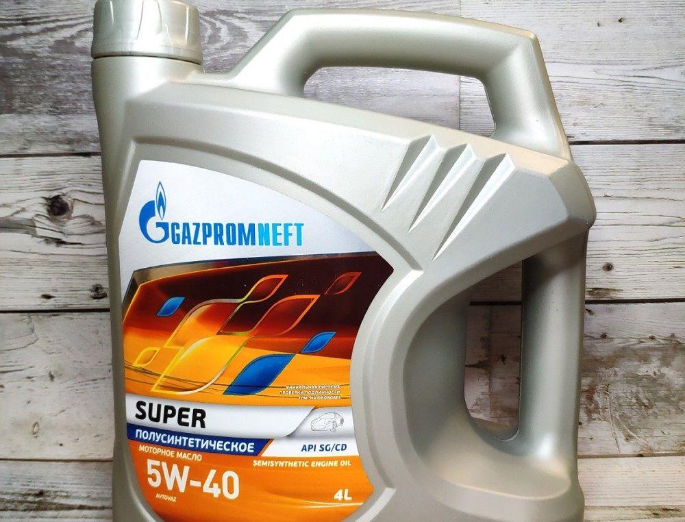 Моторное масло 5W40 Gazpromneft Super