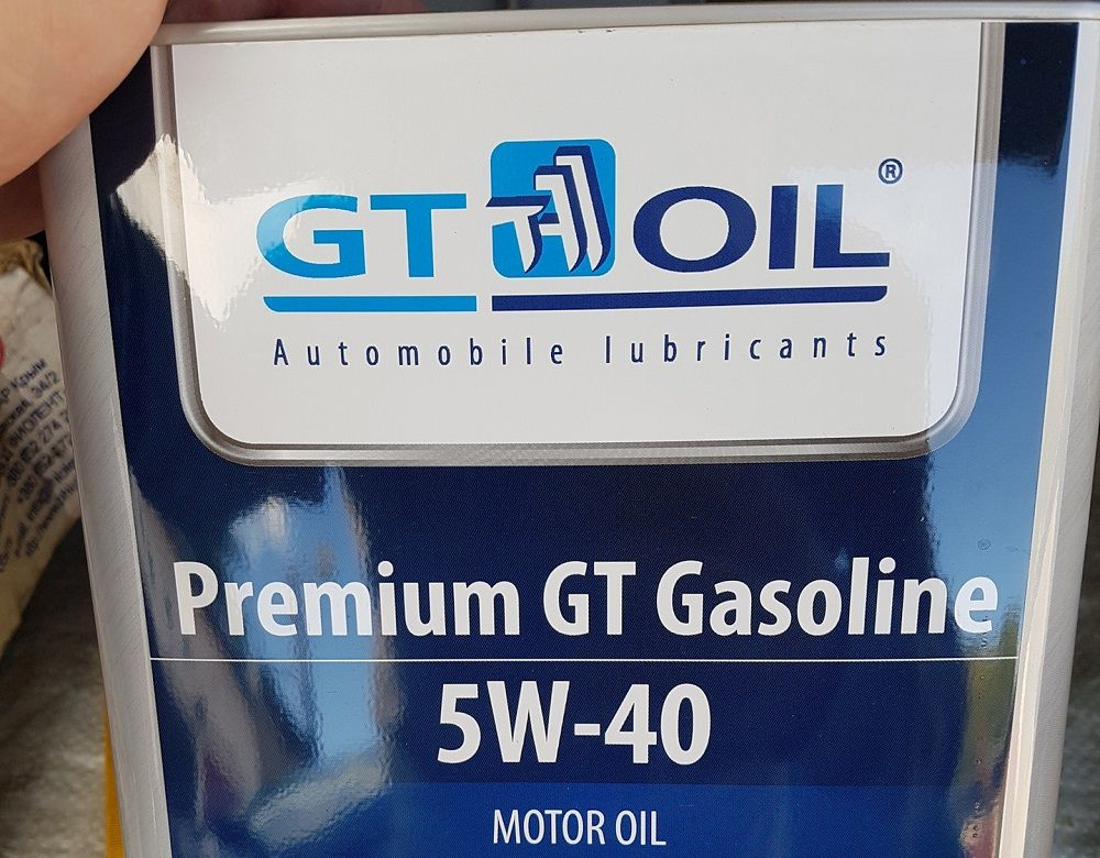 Моторное масло 5W40 GT Oil Premium Gasoline