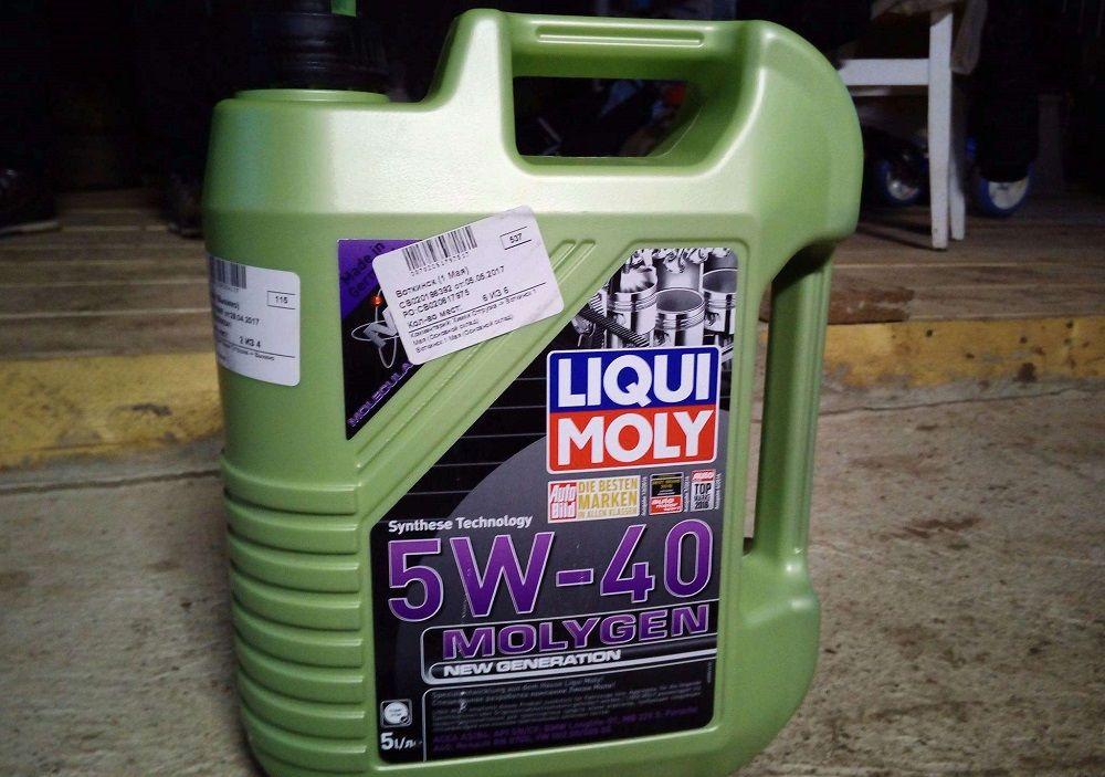Моторное масло 5W40 Liqui Moly Molygen New Generation