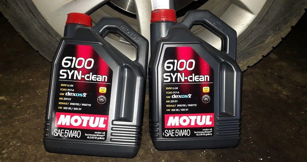 Моторное масло 5W40 Motul 6100 Syn-Clean