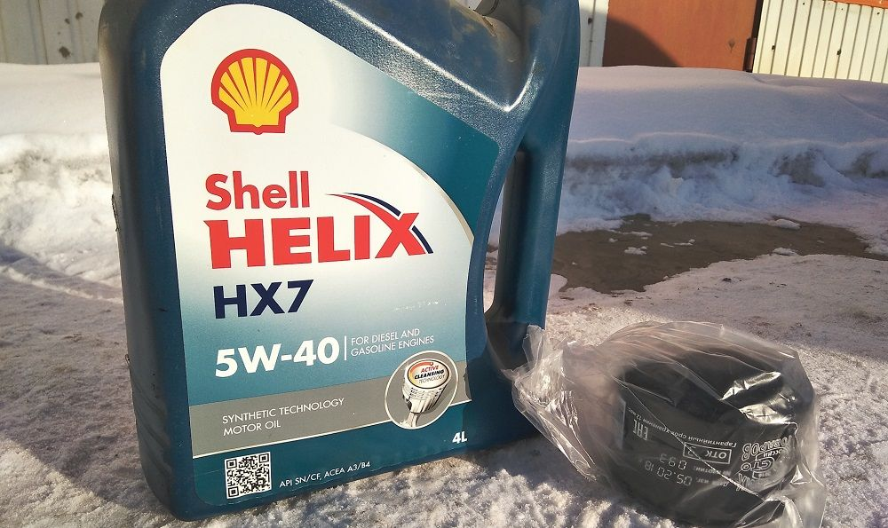 Моторное масло 5W40 Shell Helix HX7